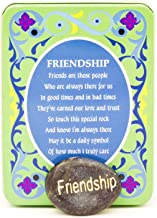 Decorative Forever Gift Greeting Metal Tin Box with Inspirational Reminder Stone of Sentiment and Unique Poem to Match Theme (Friendship, Happiness, Strength, Love, Dream, Hope, Courage) (Friendship)