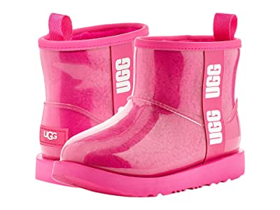 UGG Kids Classic Clear Mini II (Toddler/Little Kid/Big Kid) (Rock Rose) Girls Shoes