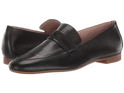 Paul Green Adelle Flat (Black Leather) Women