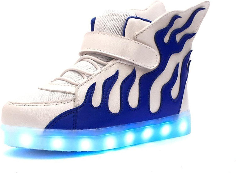 Uerescha Youth's High Top USB Charging LED Glowing shoes Flashing Sneakers