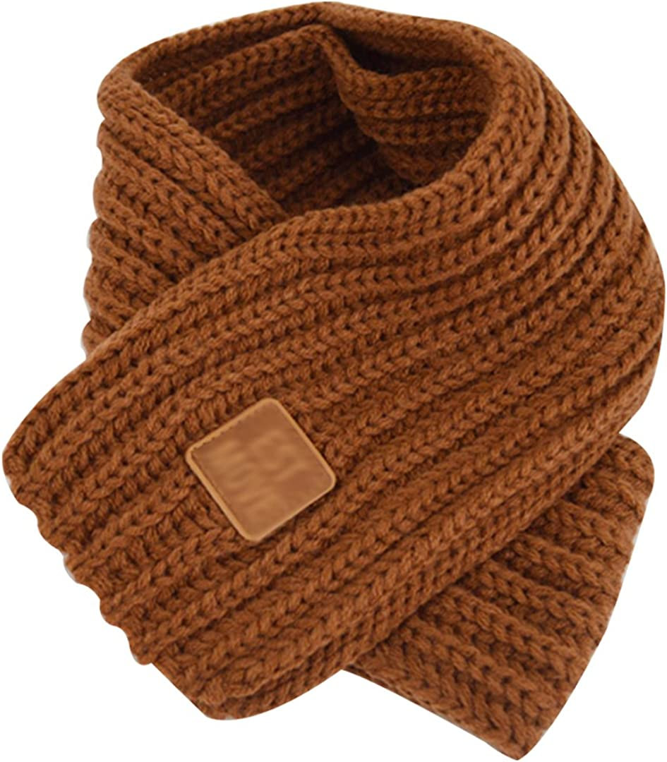 Queena Kids Soft Warm Max 90% OFF Knitted Excellence Scarf Neck Solid Color War Toddler