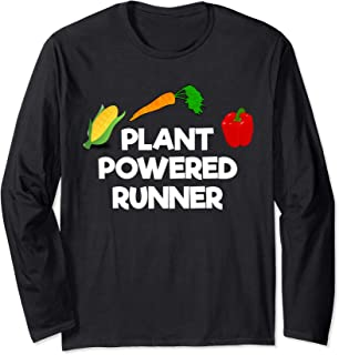 Plant Powered Runner Vegan Running Long Sleeve T-Shirt