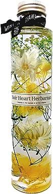 ハーバリウム ~Topaze トパーズ~ 丸瓶1本180ml お祝い ギフト 父の日 紫陽花 かすみ草