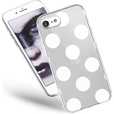QULT Custodia Compatibile con Cover iPhone SE 2020, iPhone 7/8 Trasparente Silicone Morbido Chiaro Cristallo Anti-Scratch Bumper Case con Disegni ...
