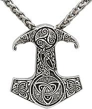 Plata antigua escandinava Thor martillo nudo collar cadena