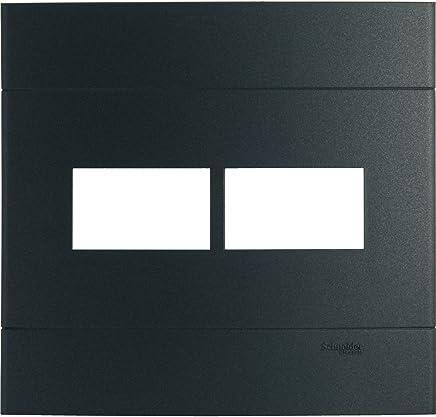 Placa 4 X 4 2 Postos Separados Ônix Decor Schneider Electric Preto