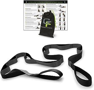 Gradient Fitness Stretching Strap, Premium Quality Multi-Loop Strap, Neoprene Padded Handles, 12 Loops, 1.5