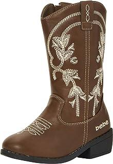 bebe Girls' Western Cowboy Boot with Easy Side Zipper (Toddler/Little Kid/Big Kid)