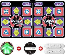 step dance mat Dance Mat Pad Pads, Antislip Duurzaam Dansende Stap Dance Pad Deken dancer step pads (Color : PVC wireless 1)