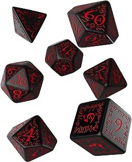 Elvish Dice Set, Black/Red