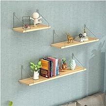 Drijvende plank sets van 3 muurbevestiging, woondecoratie houten opbergrek voor woonkamer slaapkamer badkamer gang kinderk...