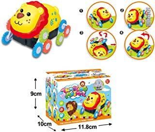 Amaae 12 Wheels Electric Dumpers Car Animal Shape Stunt Toy Novelty Gift For Children (Coloe:Multicolor,Material:Other)