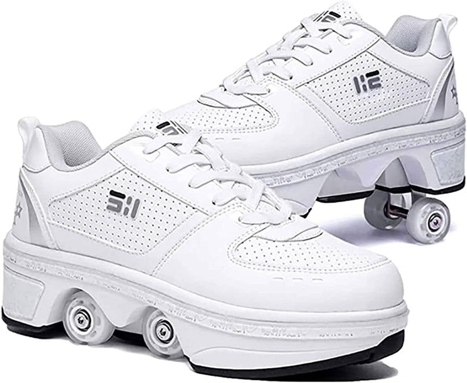 Mr. Hao Direct store 2 in 1 Roller Skates Directly managed store Walking Automatic Deformation Shoes
