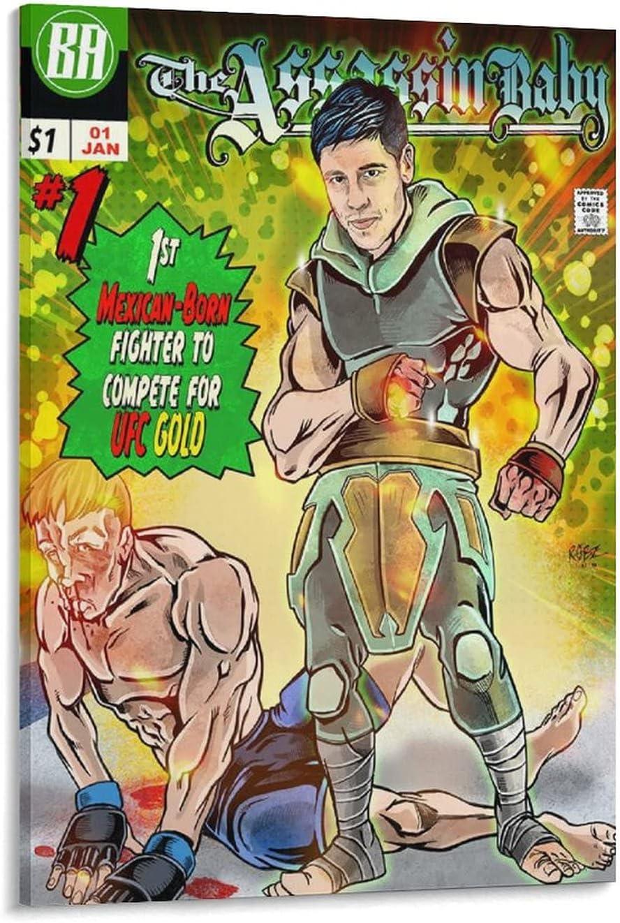 買い取り LEIMENG Brandon Moreno A Boxer 高品質 Draws Comic Wall Po Art Posters