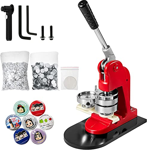 """discount Mophorn Button lowest Maker 58mm Badge Maker Machine 2.28 inch Badge Punch Press 2021 Pin Button Maker with Free 500 Pcs Button Parts and Circle Cutter (500pcs,58mm 2-1/4"""") sale"""