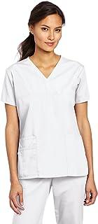 قميص مستشفيات ملتف سكربز تشارلي للنساء بـ 5 جيوب وقبة على شكل حرف Y من وندرويك