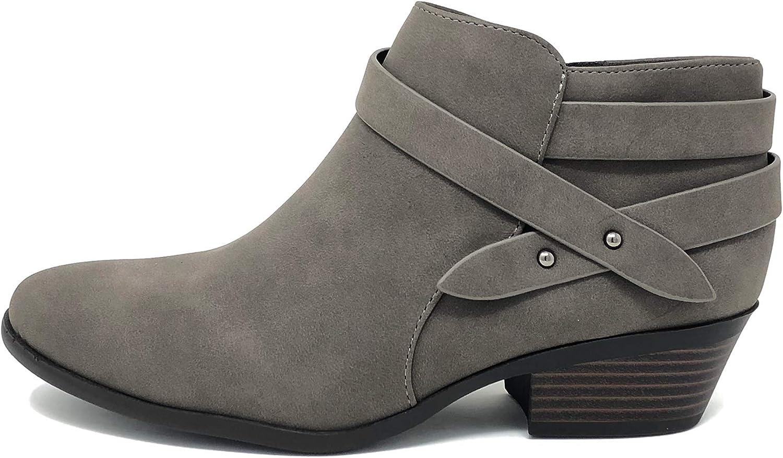 Soda Women's Fashion Closed Toe Max 77% OFF Multi Bootie Ankle H Block Max 60% OFF Strap