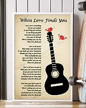 Mattata Decor Gift - When Love Finds You Song Lyrics Portrait Poster Print (12