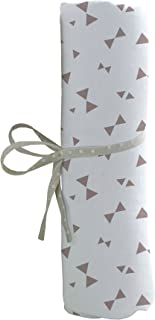 babyCalin Drap Housse Imprimé Nœuds Taupe 60 x 120 cm