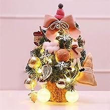 Kerstversiering Mini-kerstboom Versierde desktop-kerstboom met LED-lichtslingers Familie kerstdecor Gekleurde ballen Sneeu...