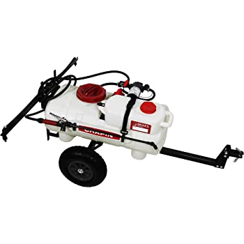 Chapin International 97661 Mixes on Exit-First-Ever Clean-Tank Tow Behind Spraying System, 15-Gallon Sprayer, Translucent White