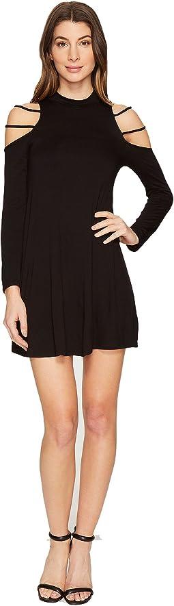 Culture Phit - Kassedy Cold Shoulder Mock Neck Dress