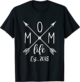 Womens Mom Life Est.2018 Funny Mama, Mommy, Mother T-Shirt
