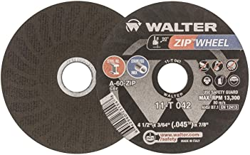 Walter Surface Technologies Walter ZIP Cutoff Wheel - (Pack of 25) Durable Cutting Disc for General Purpose - 11T042