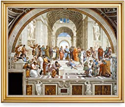 DECORARTS - The School of Athens, Raphael Classic Art. Giclee Prints Framed Art for Wall Decor. 16x20, Total Size w/Frame: 18.5x22.5