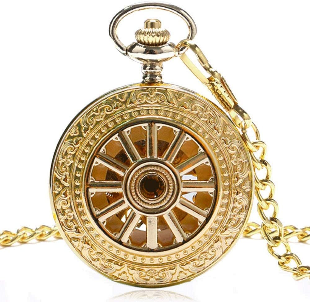 Same day shipping XJJZS Vintage Stainless Steel Pocket : Watch Gold Chain Color Sales results No. 1