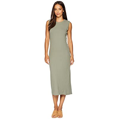 B Collection by Bobeau Lyla Twist Back Knit Dress (Olive) Women