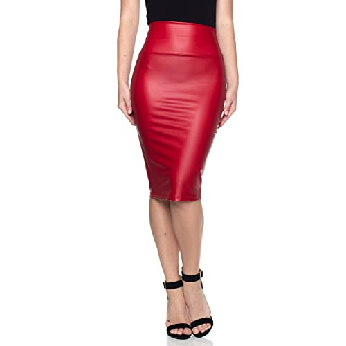 925fabb4fc Cemi Ceri Women's J2 Love Faux Leather Pencil Skirt