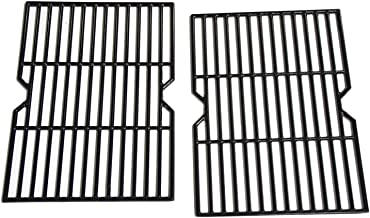 Hongso Porcelain Coated Cast Iron Cooking Grid Grate Replacement Parts for Grill Master 720-0737, Grill Chef, Nexgrill Gas Grill Models, 17 1/8 x 24 7/8 inches BBQ Grill Grates, Set of 2 (PCF162)