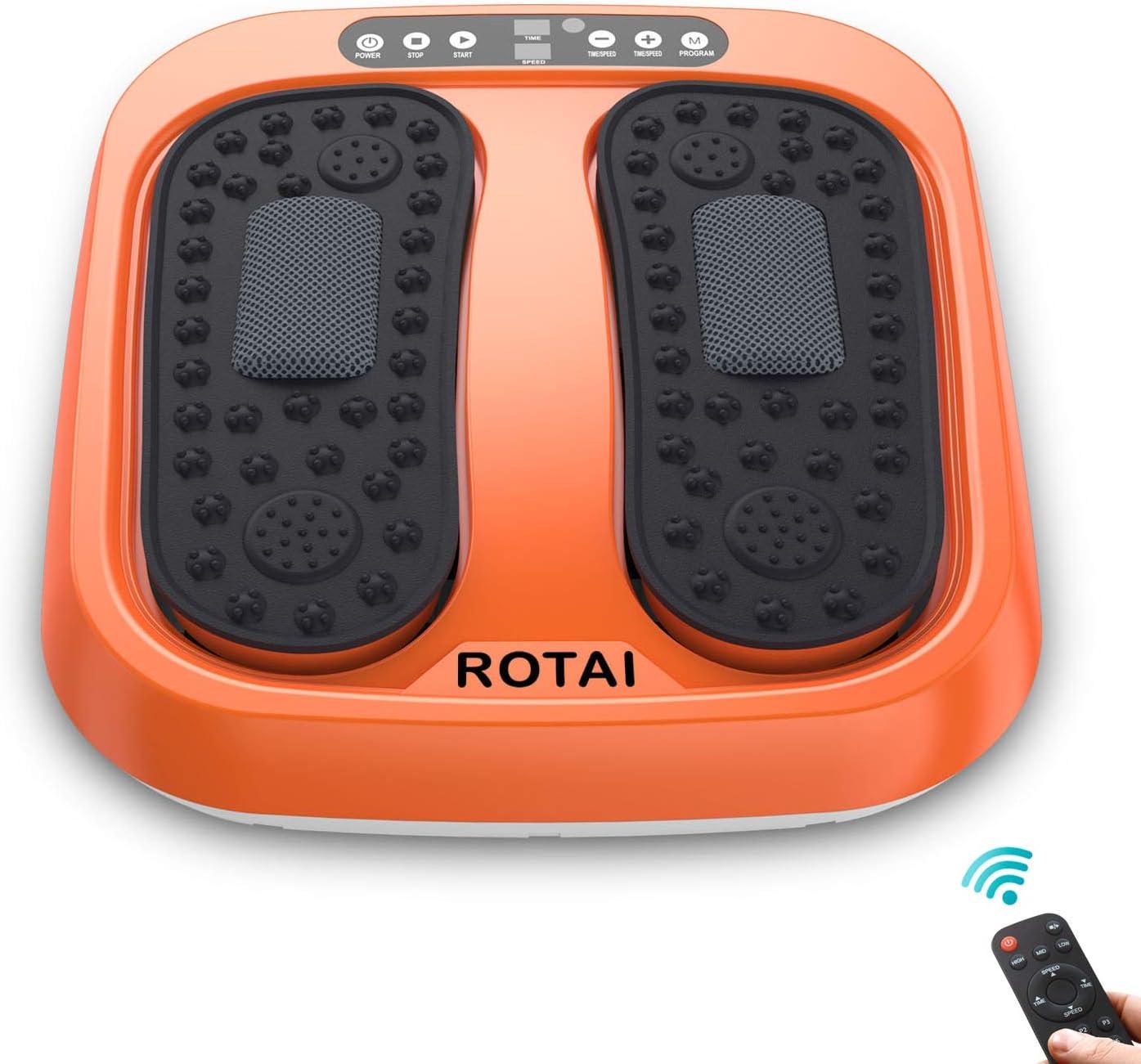 ROTAI Shiatsu Vibration Rotating Acupressure Foot Massager  $70  Coupon
