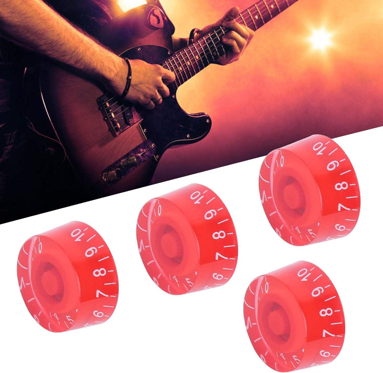 Perillas de bajo acrílico Accesorios de guitarra portátil para entusiastas de la guitarra para guitarrista (rojo blanco)