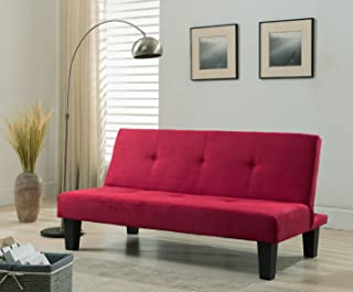 Asunflower Convertible Sofa Bed 74.8 Modern Futon Set Love Seats with Cup Holders Linen Recliner Chair,Sleeper Sofa Bed with Metal Legs