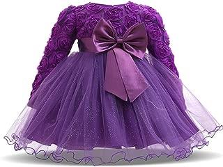 Gaga city Girls Bowknot Lace Princess Dress Flower Girl Dress Christening Dress Festive Dress Wedding Birthday Party Dress Pageant Baby Clothing Outfits 3-24M