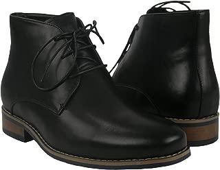 Zerimar Botas de Hombre con Alzas Que Aumentan su Altura + 7 cm|Botas Hombre de Vestir| Botines Hombre| Botas de Piel Hombre