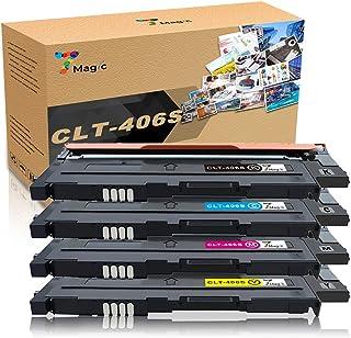 CLT-406, 7Magic Tóner Compatible con Samsung CLT-P406C CLT-406S Cartucho de Tóner, Compatible con Samsung CLP-360 CLP-365 CLX-3305 CLX-3300 SL-C460W C460 C460FW C410W SL-C467W Impresora(4 Paquete)
