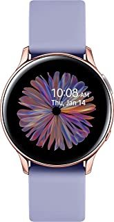 Samsung Galaxy Watch Active 2 (Bluetooth, 40 mm) - Violet, Aluminium Dial, Silicon Straps