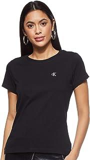 Calvin Klein Women's Ck Embroidery Slim Tee T-Shirt