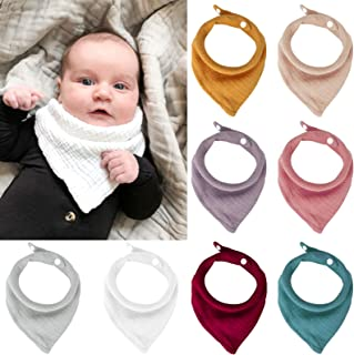 Newborn girl bib Toddler Teething bib pink Summer baby scarf Peach Muslin baby girl bib Baby bandana bib Double gauze Bandana bib girl