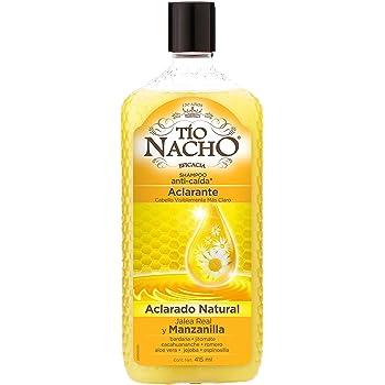 Tío Nacho Shampoo ACLARANTE, Jalea Real y Manzanilla, cabello visiblemente más claro, botella 415 ml