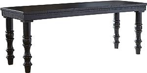 Signature Design by Ashley - Dannerville Accent Bench - Vintage - Antique Black