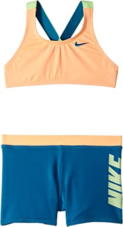 Rift Prism Cross-back Bikini and Shorts (Little Kids/Big Kids)