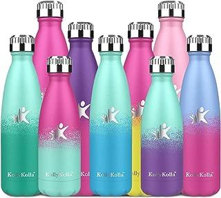 comprar comparacion KollyKolla Botella de Agua Acero Inoxidable, Termo Sin BPA Ecológica, Botella Termica Reutilizable Frascos Térmicos para N...