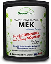 GreenChem Methyl Ethyl Ketone (MEK) | Solvent for Professional Cleaning & Paint Mixing (5 gallons)