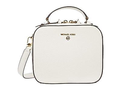 MICHAEL Michael Kors Jet Set Charm Medium Top-Handle Crossbody (Optic White) Handbags
