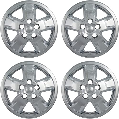 17 inch Hubcap Wheel Skins for 2011-2013 Toyota Camry-(Set of 4) Wheel Covers- Car Accessories for 17inch Chrome Wheels- Auto Tire Replacement Exterior Cap Cover