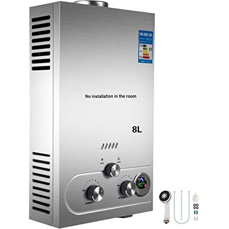 Cueffer LPG Calentador de Agua Calentador de Agua de Gas Licuado 36KW Calentador de Agua Automático LCD Digital Calentador de Agua Instantáneo Propane ...
